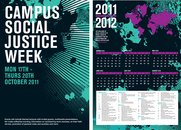 Calendar Design Poster : Graphic design for event held in nui maynooth ireland